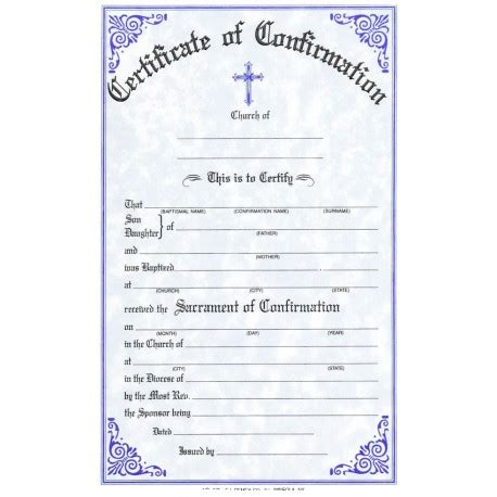 confirmation certificate church remey
