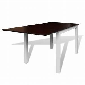 Table Extensible Bois Massif : acheter table extensible marron et blanc 150 cm en bois massif pas cher ~ Teatrodelosmanantiales.com Idées de Décoration