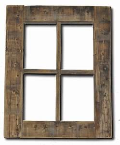Primitive Rustic Weathered Wood Window Frame