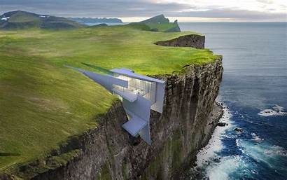 Cliff Iceland Retreat Concept Hotel Cliffside Architecture
