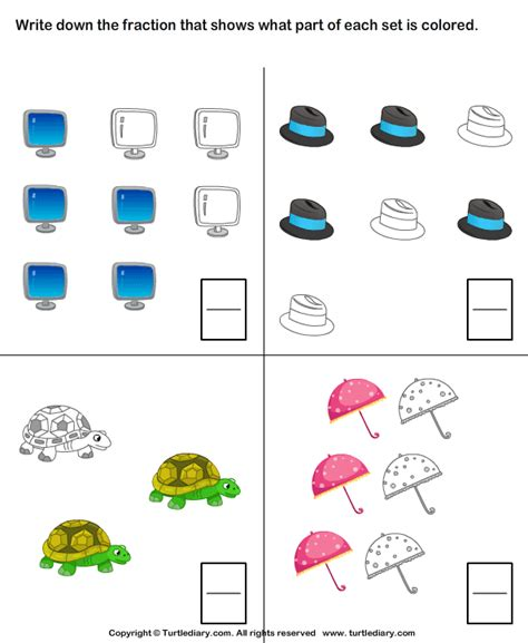 which shape matches the fraction turtlediary com