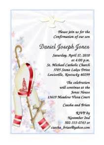 Bishop Confirmation Invitations with Hat