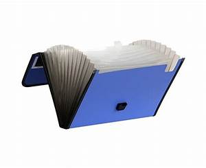 13 pocket poly expanding file with handle accordion file With letter size accordion folder