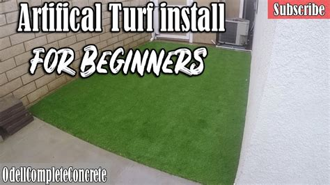 install artificial turf  beginners diy youtube