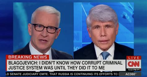 blagojevich cnn bs cooper anderson calls claims rod host former interview wmay