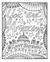 Coloring Birthday Happy Kleurplaat Card Je Bent Adults Amazing Verjaardag Printable Gelukkige Pompom Cool Geweldig Raskrasil Afdrukbare Dustin Gma Worksheetpedia sketch template