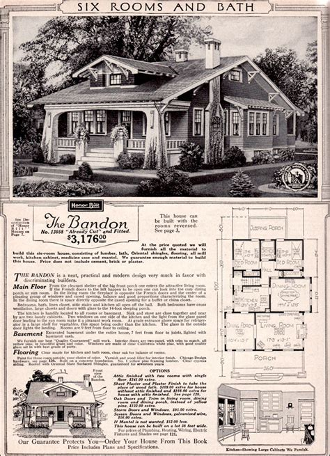 sears bandon craftsman style bungalow  kit houses california bungalow