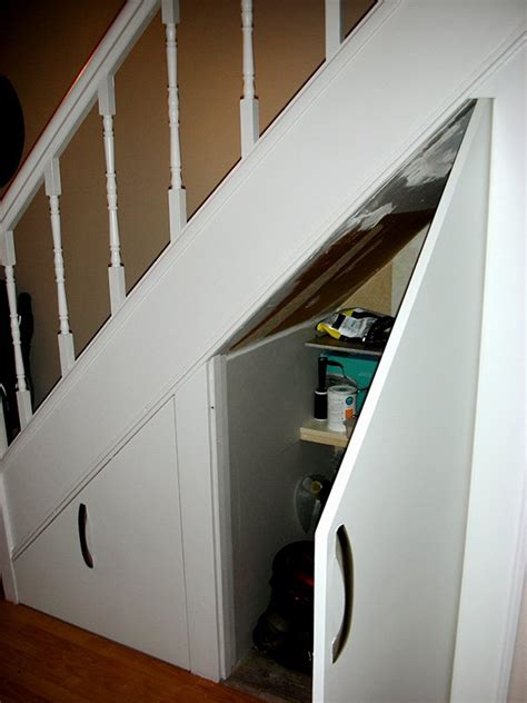 go creative ideas for stairs storage