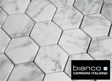 marble hexagon tile free shipping carrara bianco honed 2 quot hexagon mosaic tile