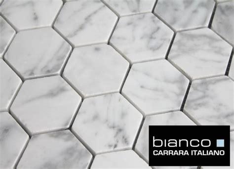 2 marble hexagon tile free shipping carrara bianco honed 2 quot hexagon mosaic tile