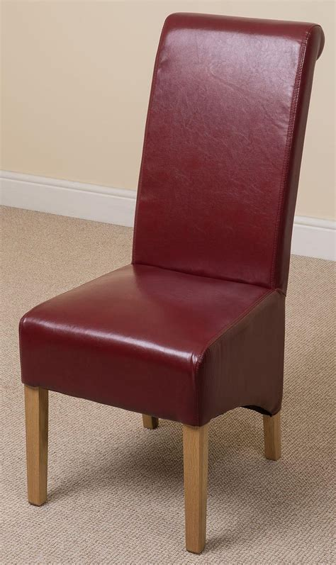 montana dining chair burgundy leather dining room chairs