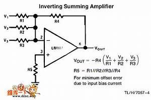 Inverting Summing Amplifier Circuit