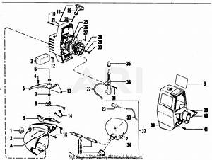 Poulan Yp130 Gas Trimmer Parts Diagram For Starter  U0026 Shroud