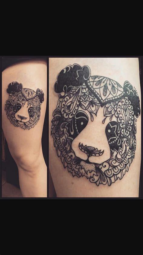 mandala panda tattoo tattoos animal tattoos bear