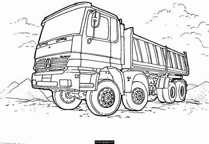 Coloring Truck Pages Semi Boys