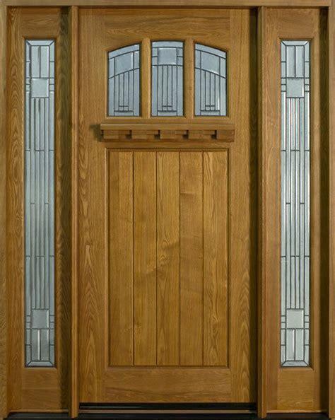 Hardwood Doors by Solid Wood Ash Entry Door Single With 2 Sidelites Prehung