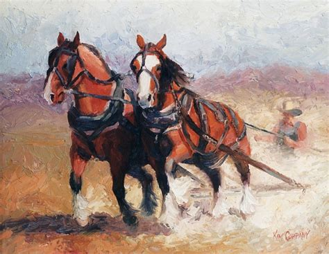 pulling contest clydesdales draft horse paintings painting