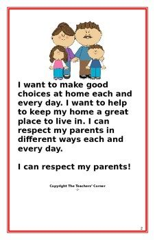 social story   respect  parents   teachers