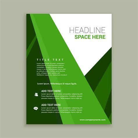 Blue And Green Vector Brochure Flyer Design Template Green Color Brochure Flyer Template Free Vector