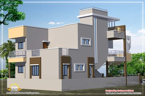 Contemporary India house plan - 2185 Sq.Ft. - Kerala home