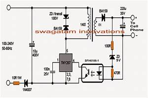220v smps cell phone charger circuit homemade circuit With with symmetrical output smps circuit electronics projects circuits