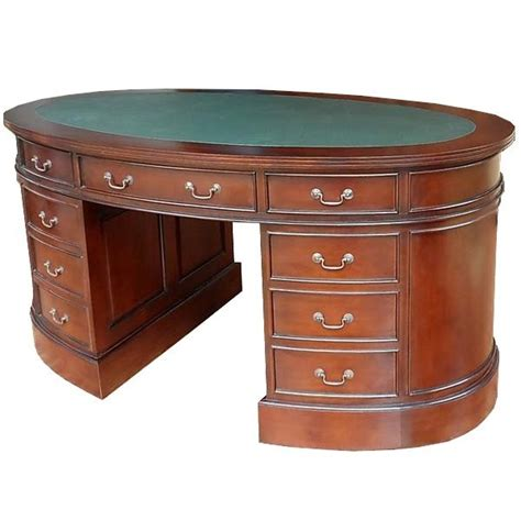 le de bureau style anglais bureau ovale style anglais acajou massif witton meuble de