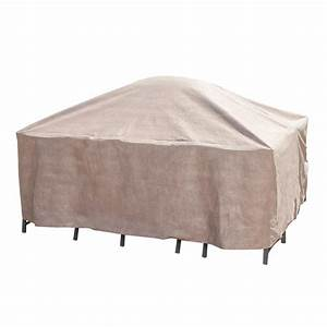 Duck covers elite 92 in square patio table and chair set for Patio furniture covers for square tables