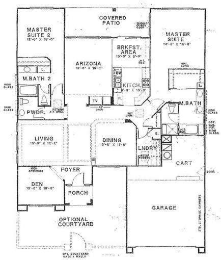 floor plans for master bedroom suites house building plans with two master bedrooms large