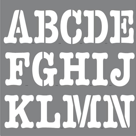 decoart personally  newsprint alphabet stencil set