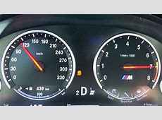 BMW M5 F10 Acceleration 0270 kmh Speedometer Onboard