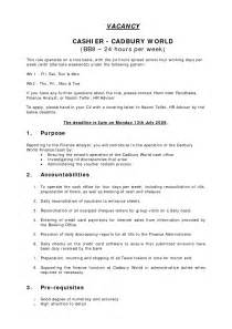 resume exles for cashiers retail resume format for cashier duties of a retail cashier