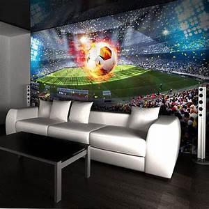 Photo Wallpaper 3D Stereo Football Field Mural Living Room ...