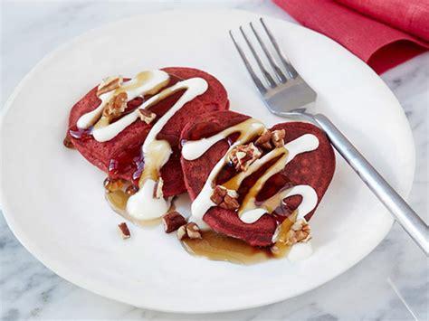 Heart Red Velvet Pancakes Recipe