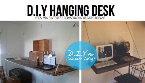 cool things to put on your desk put your stuff up in the air hanging diy ideas tutorials
