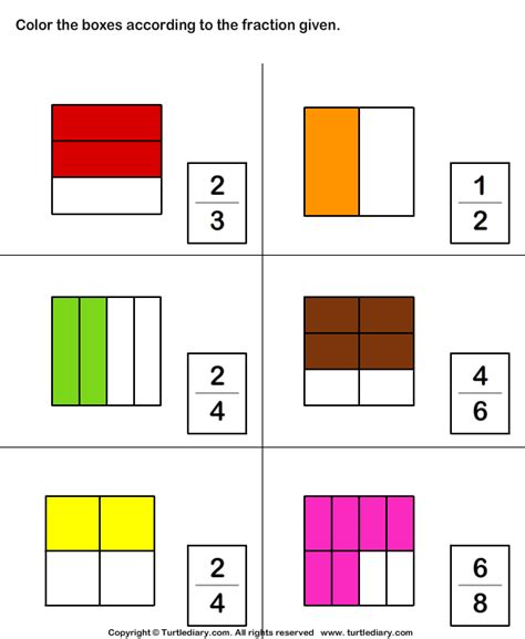 Which Shape Matches The Fraction Worksheet 7  Turtle Diary