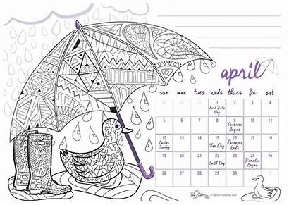 Holiday Coloring Calendar Desk Refill Pack