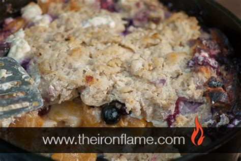 Dutch Oven Blueberry Peach French Toast Recipe