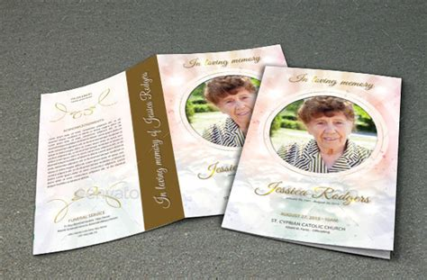 Funeral Handouts Template by 19 Funeral Brochure Templates Sle Templates