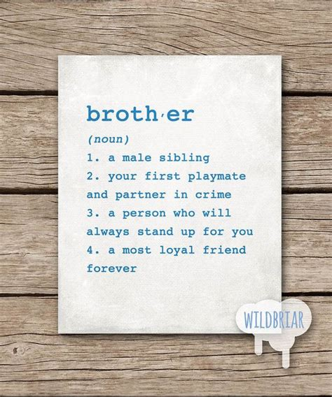 Brother Definition Wall Art - Elitflat