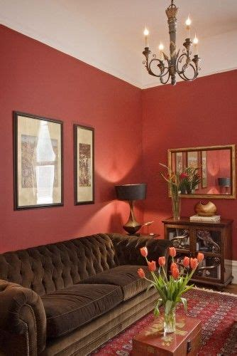 red walls chocolate furniture love the brown furniture