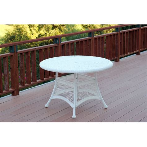 outdoor 44 quot resin wicker patio dining table by jeco