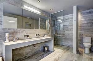 carrelage sol salle de bain imitation bois en 15 idees top With sol en bois salle de bain