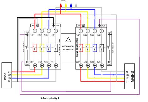 Prime Remote Starter Wiring Schematic by Automatic Transfer Switch Switch Between Solar Generator