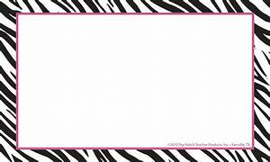 Border Index Cards 3 x 5 Zebra Blank | TOP3652