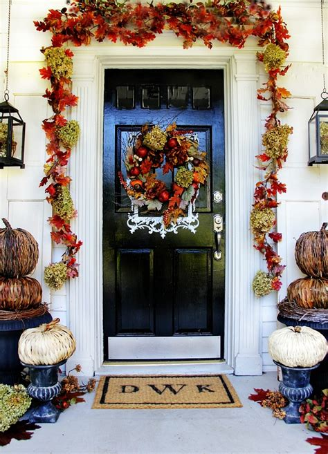 front door decorating ideas  instant fall curb appeal