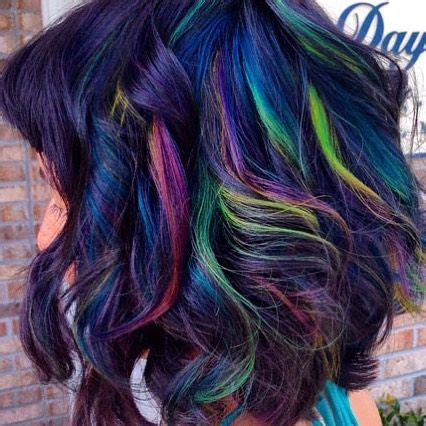 oil slick hair color  brunettes   love