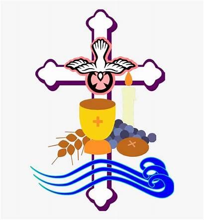 Clipart Baptism Piety Eucharist Pray Confirmation Sacraments