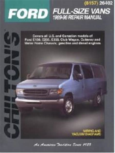 ford econoline vans  series chiltons total