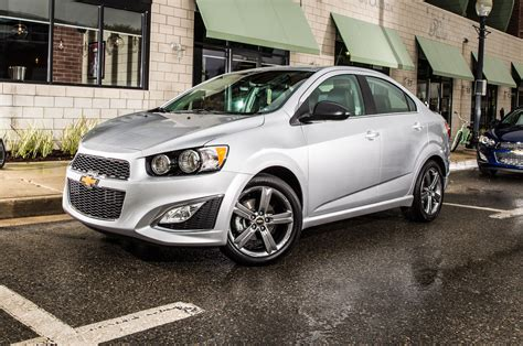 200 Hp Cars by 2015 Chevrolet Sonic Rs Sedan Parked Photo 5