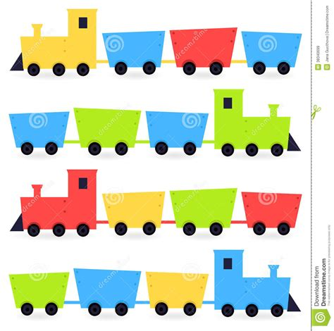 childish cartoon colorful trains royalty  stock images